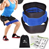 Benificer Booty Resistance Band Hip Exercise Bands Circle Loop - Glute Strengthening Workout for Women and Men, Elastic Non Slip Design with a Low, Medium, and Heavy Fabric Band Set of 3