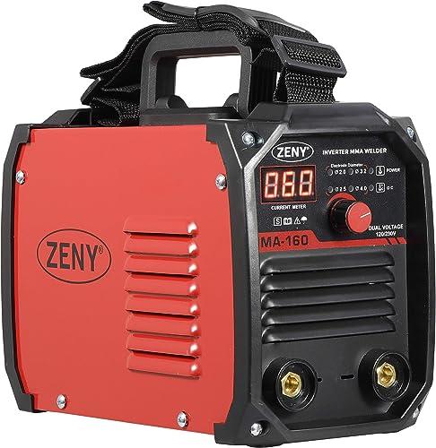 ZENY Arc Welding Machine DC Inverter Dual Voltage 110 230V IGBT Welder 160 AMP Stick
