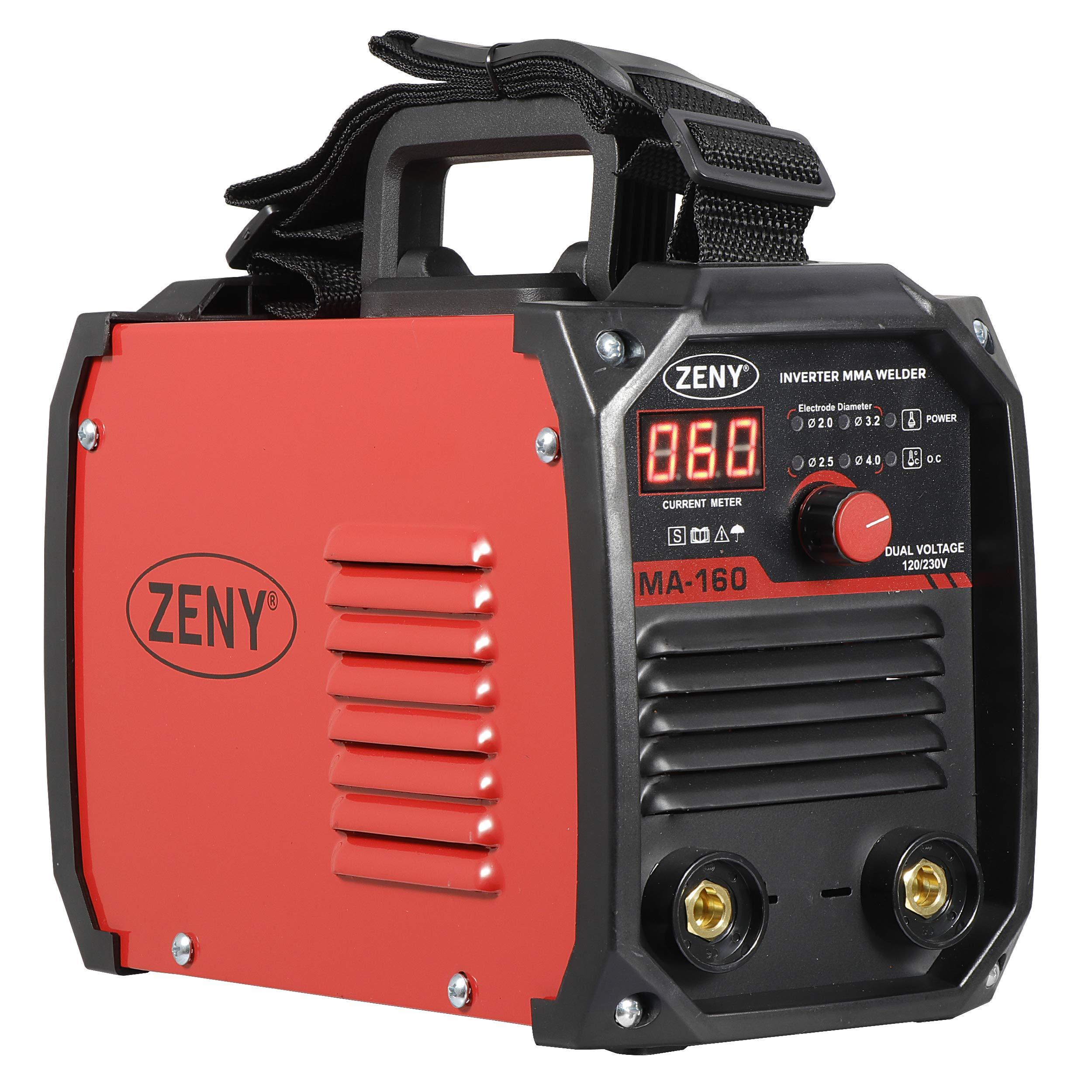 ZENY Arc Welding Machine DC Inverter Dual Voltage 110/230V IGBT Welder 160 AMP Stick by ZENY