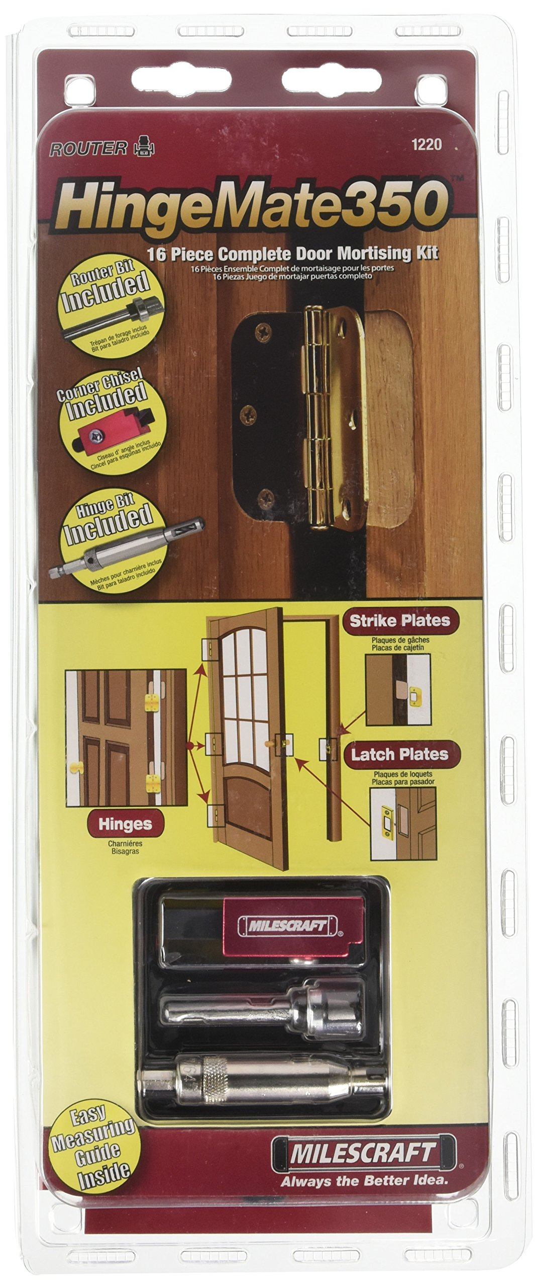 MILESCRAFT HingeMate350 Entry and Passage Door Hinge Jig