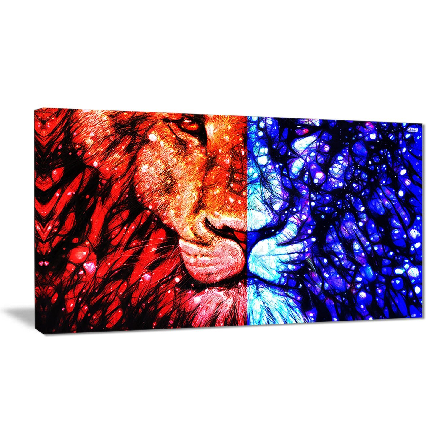 Digital art PT2401-32-16 King of The Jungle Lion Canvas Art.