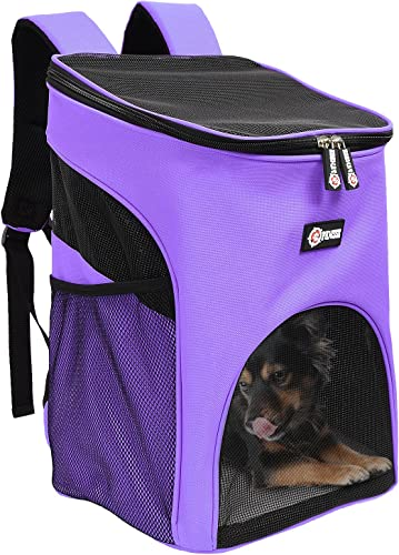 Pawsse Pet Carrier Backpack for Small Cats Dogs Rabbit, Breathable Mesh Pup Pack Outdoor Travel Carrier for Walk, Hiking, Cycling