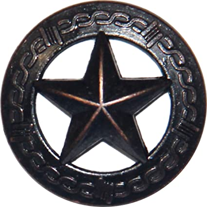 Amazon.com: 25 Oil Rubbed Brass Large Barbed Wire Lone Star ...