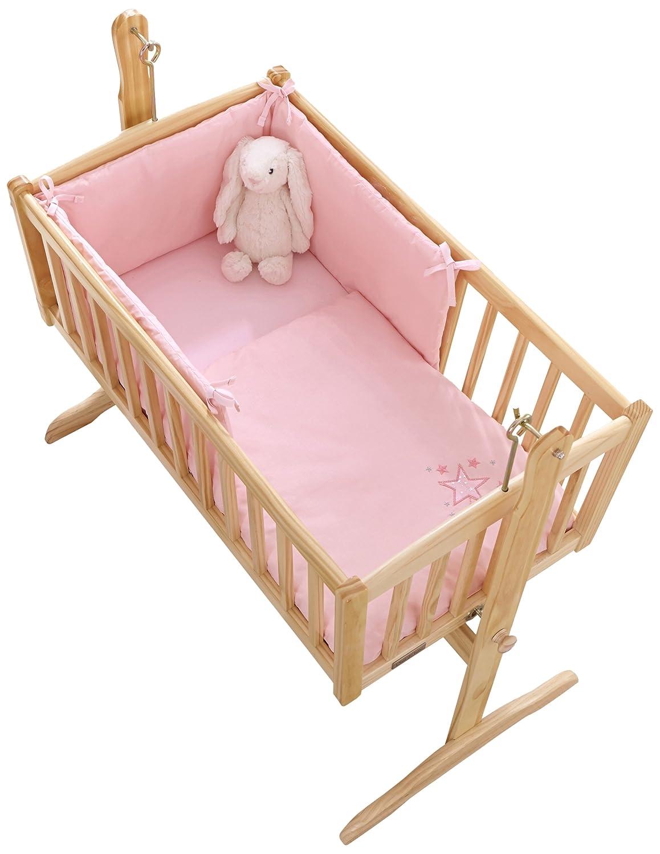 Clair de Lune Starburst Crib/Cradle Quilt and Bumper Set, Pink CL4801PK