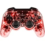 PDP - Nuevo Mando Wireless Afterglow, Color Rojo (PS3, PC)