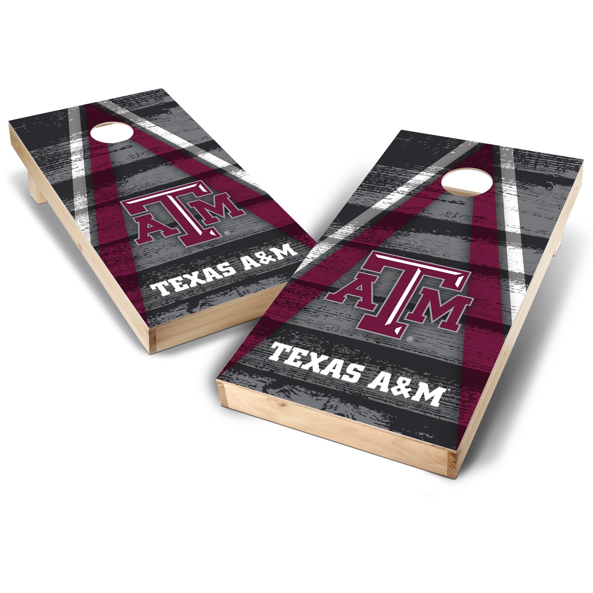 NCAA Texas A&M Aggies Vintage Triangle Design 2' x 4' Authentic Cornhole Game Set, Team Color, 2' x 4'