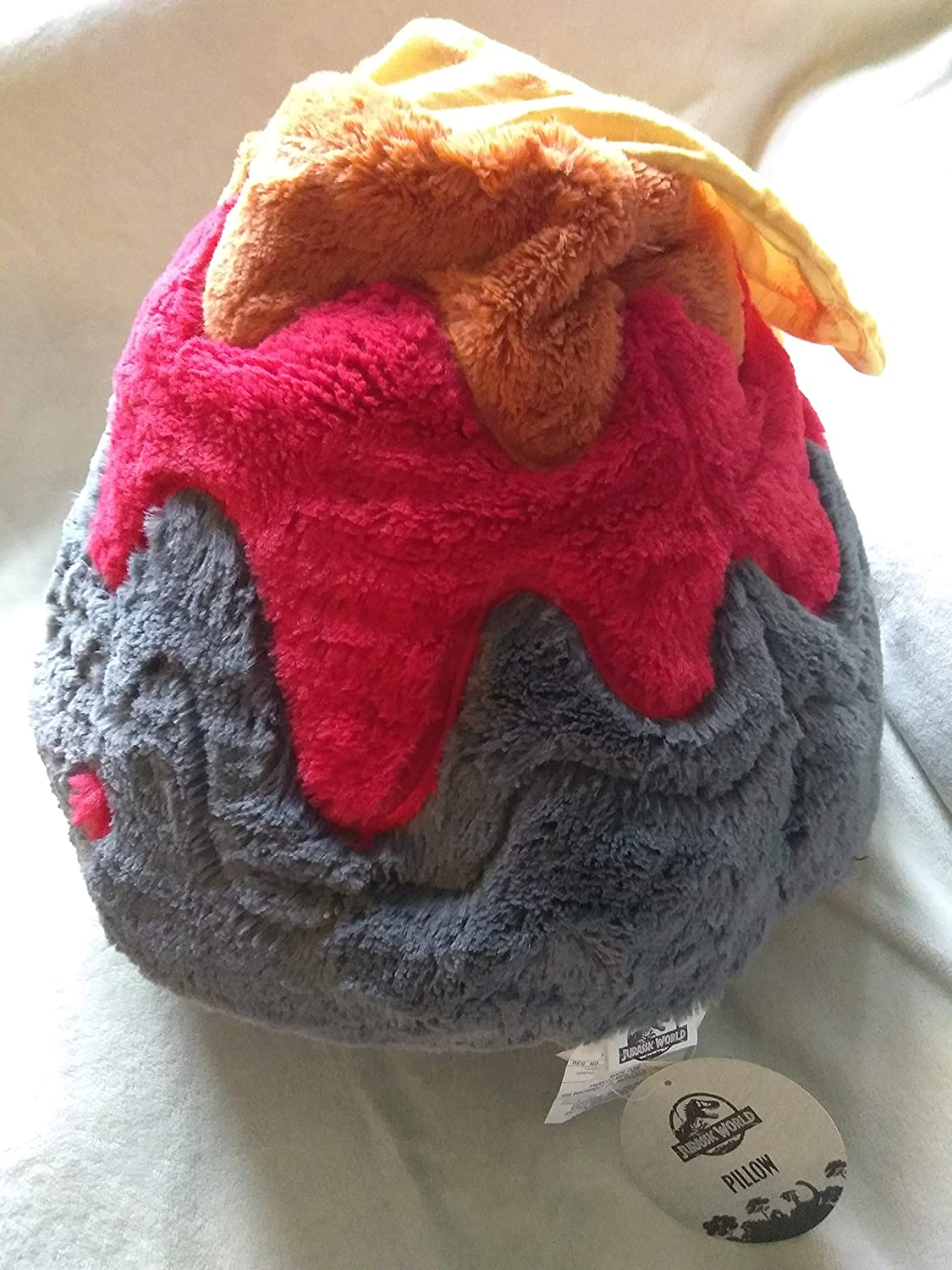 Pretend That Dinosaurs are Running from Erupting Volcano Rare Giant Plush 14 Inches Tall Jurassic World Super Soft Pillow Erupting Volcano from Jurassic World 2 by Franco