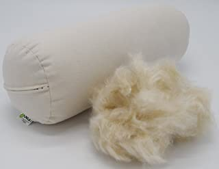 """product image for Bean Products Neck Roll Organic Kapok Pillow - 5"""" x 14"""" - Organic Cotton Zippered Shell - Made in USA"""