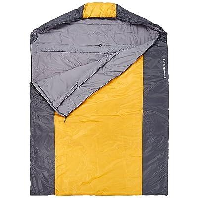 10T Selawik Duo 150L Sac de couchage couverture double Noir/Orange L/215 x 150 cm