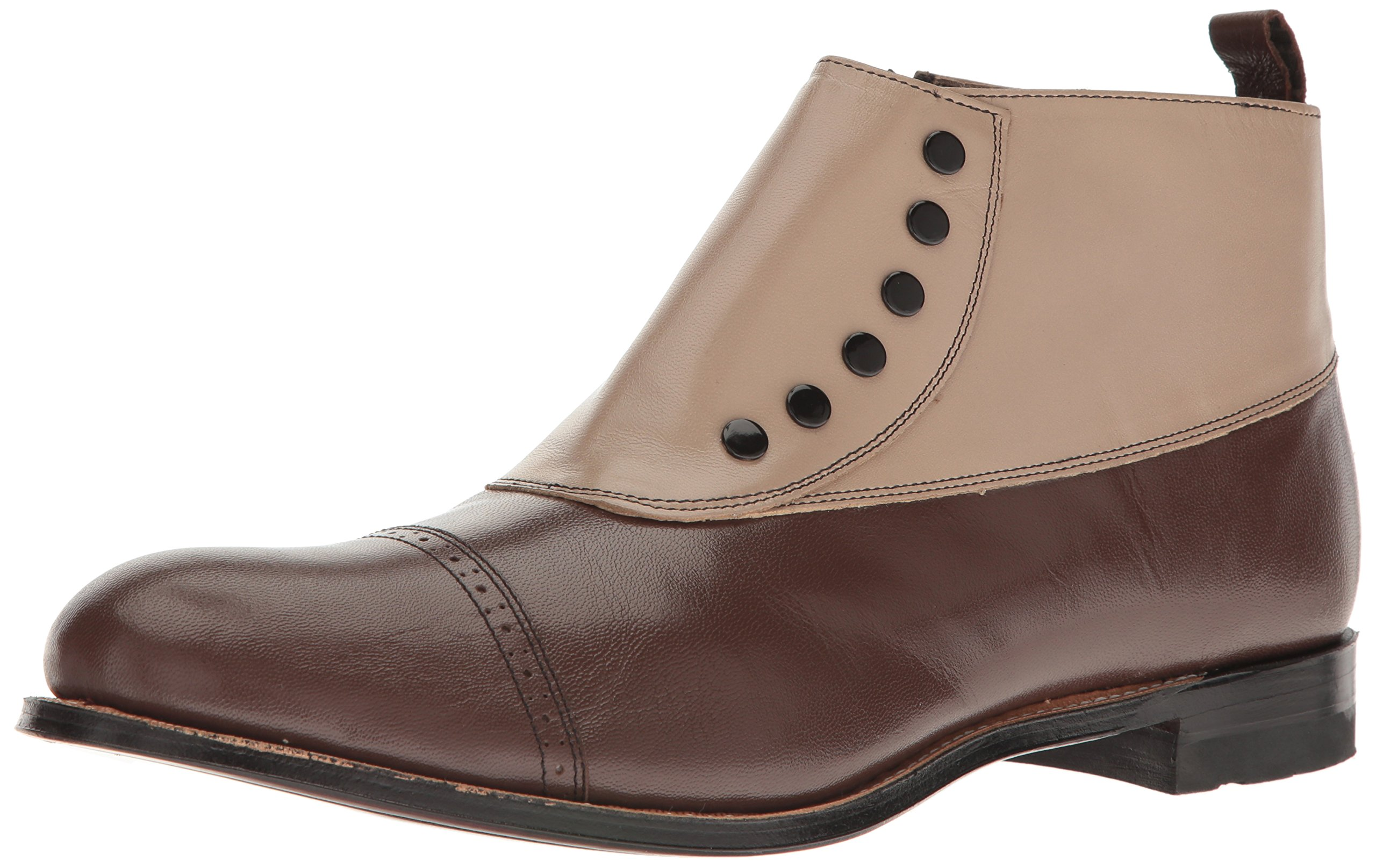 Stacy Adams Men's Madison Cap-Toe Spat Boot,Brown Multi,10 D US