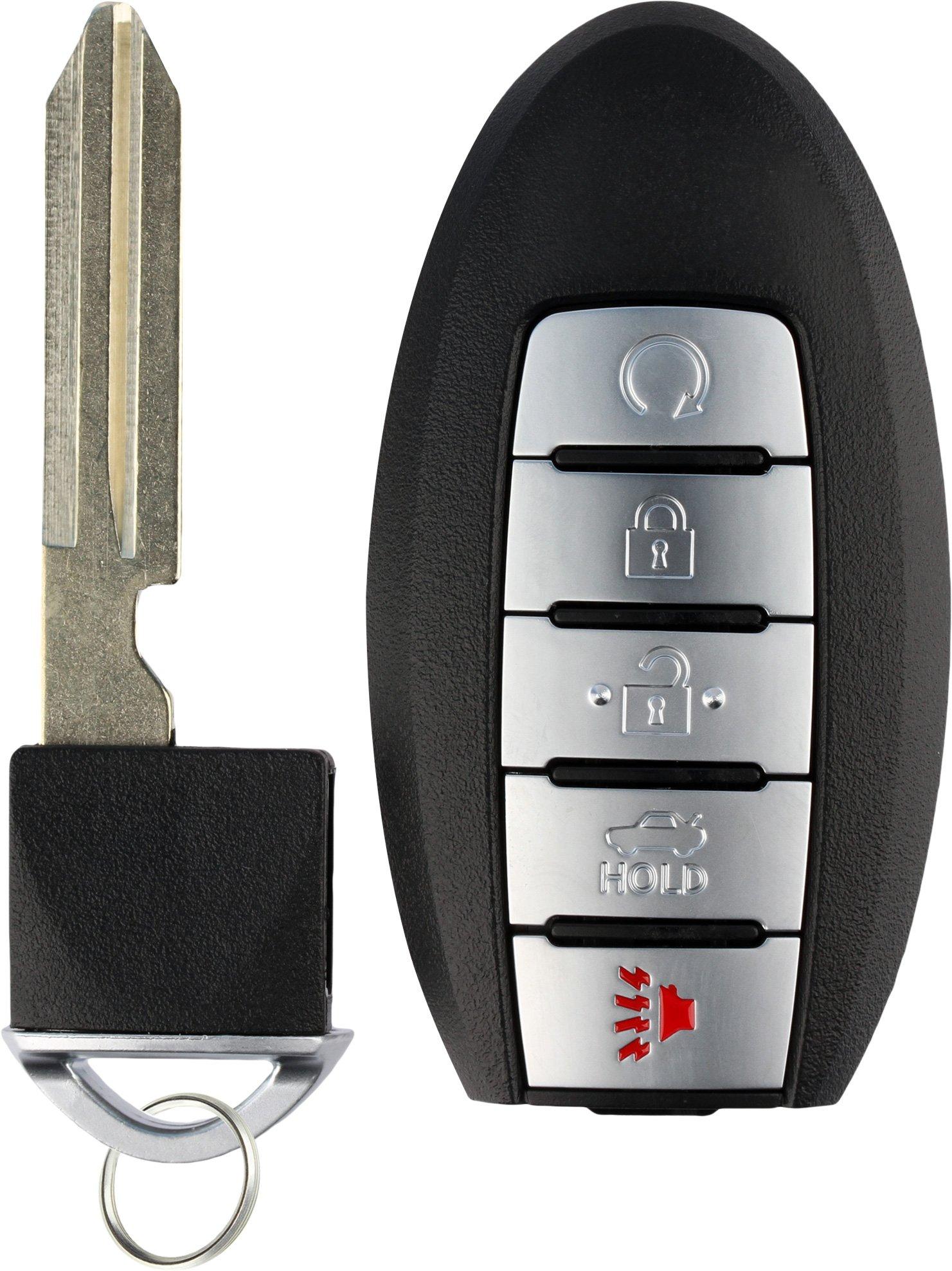 KeylessOption Keyless Entry Remote Control Starter Smart Car Key Fob Alarm for Nissan Infiniti KR5S180144014