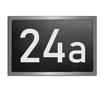 Letrero para puerta de pizarra y acero inoxidable V2A. Placa ...