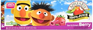 Apple & Eve 100% Juice Bert and Ernie's Berry, 8 ct