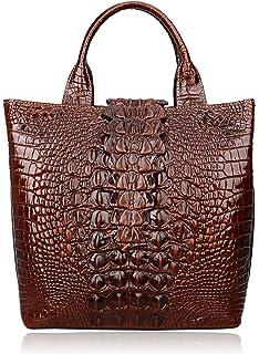 e63e72e047 PIJUSHI Top Handle Satchel Handbags Crocodile Bag Designer Purse Leather  Tote Bags