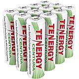 Combo: 12pcs of Tenergy Centura NiMH AA 2000mAh Low Self Discharge Rechargeable Batteries