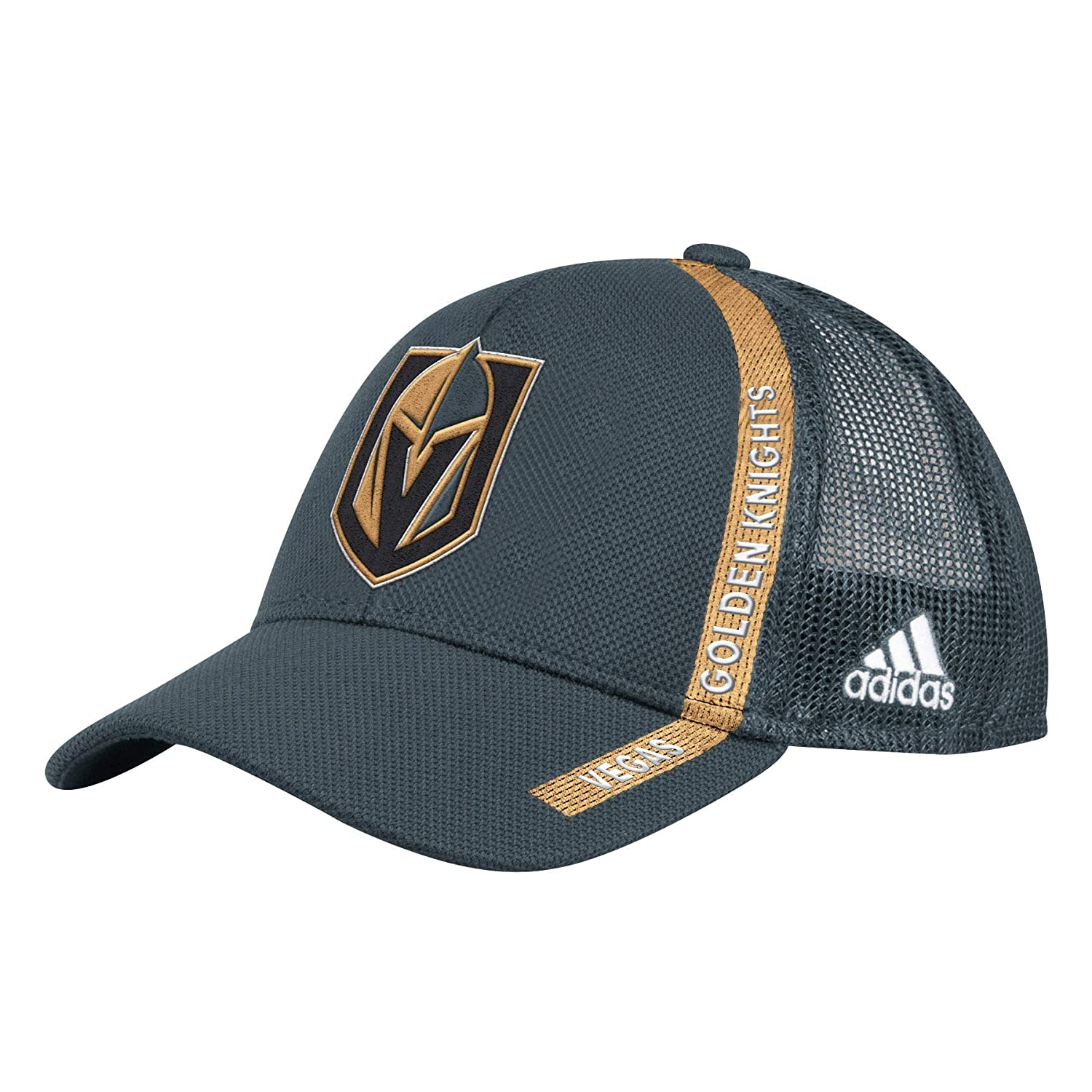 492333ae Amazon.com : adidas Officially Licensed NHL Vegas Golden Knights Grey  Structured Adjustable Mesh OSFA Hat : Sports & Outdoors