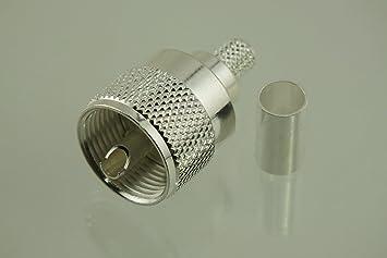 w5swl marca Premium Series Coaxial conector plata UHF PL-259 PL259 macho Crimp para RG