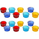 woodenclave Glass Tealight Holder (5.25 cm x 5.25 cm x 2.5 cm, Pack of 16)