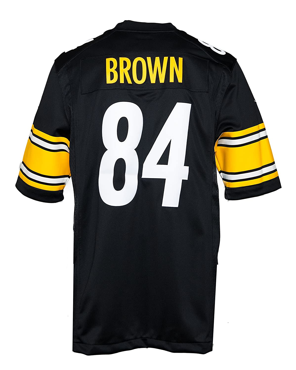 fc86240df67 ... real amazon nike mens nfl antonio brown pittsburgh steelers jersey black  small sports outdoors 6e33e 2e386