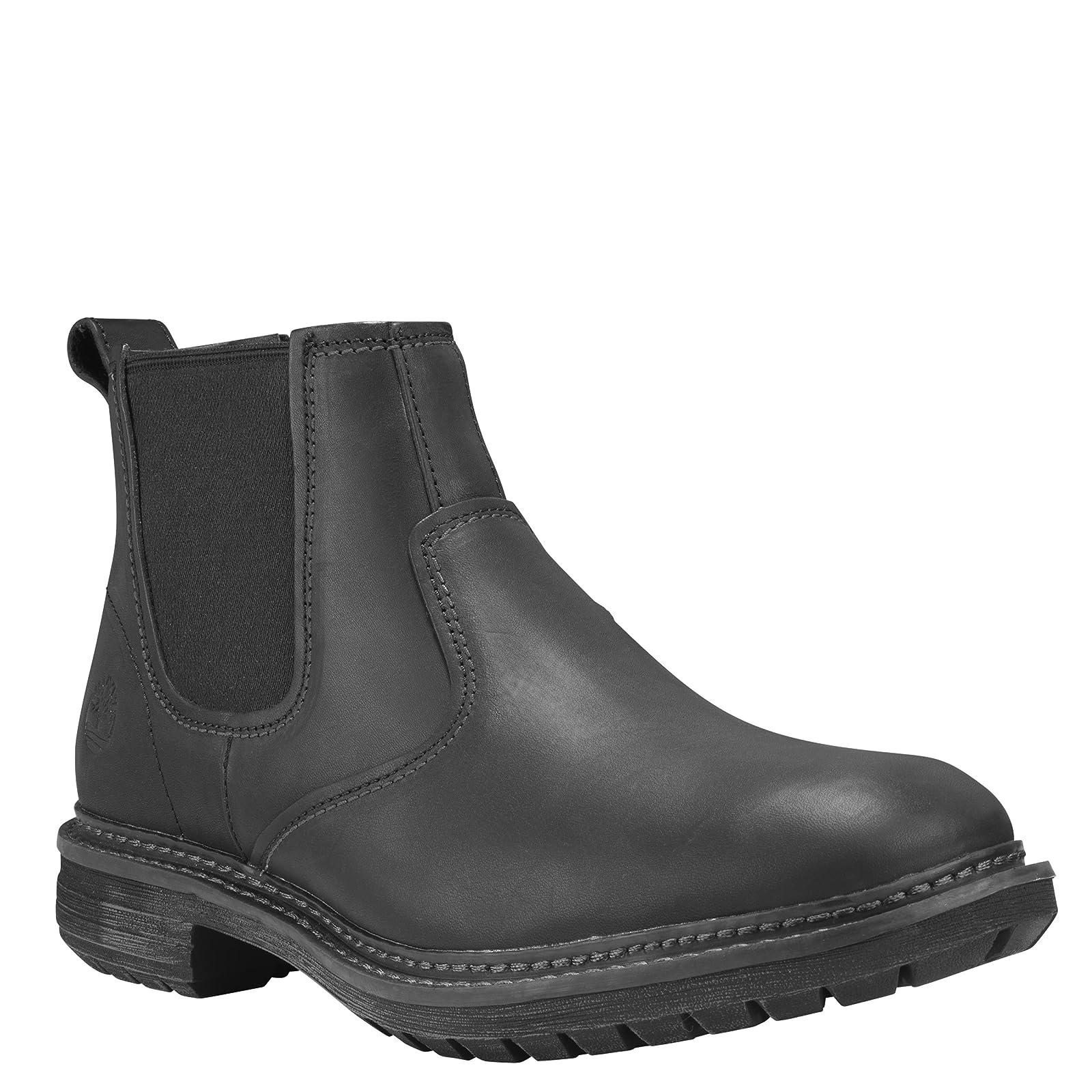 Timberland Men's Logan Bay Chelsea Boot A1V4Z Medium Brown Full Grain - 1