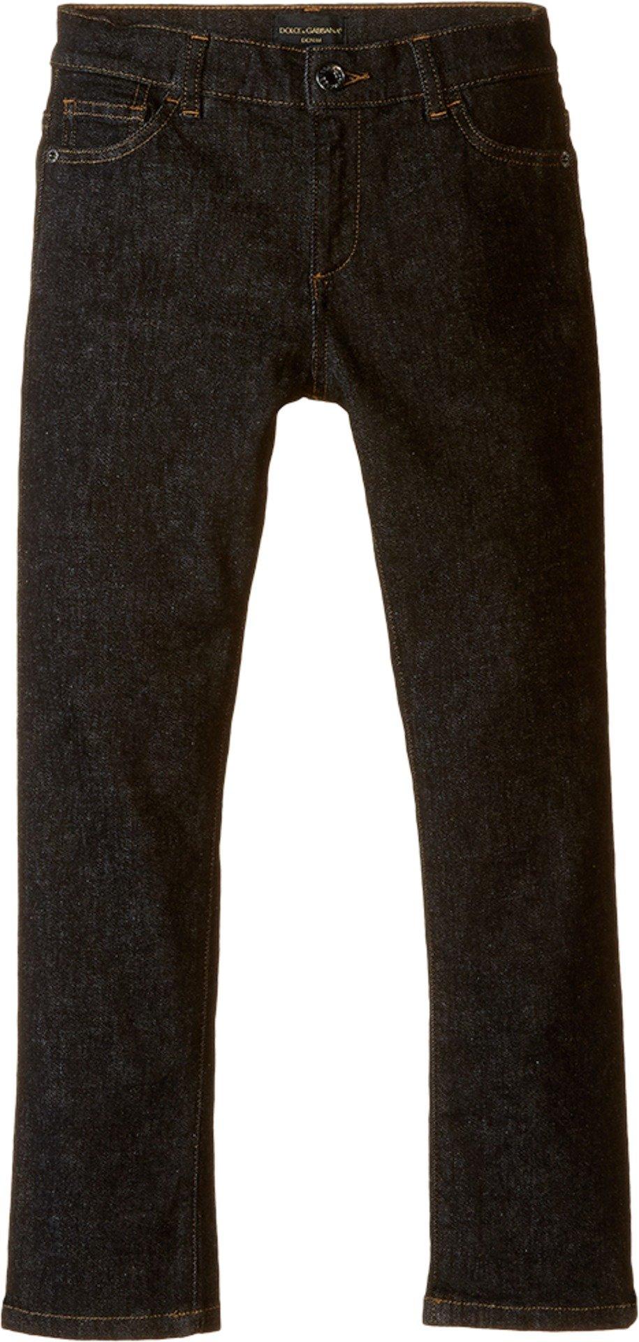 Dolce & Gabbana Kids Boys' Back To School Black Jeans, Charcoal Denim, 8 (Big Kids) X One Size