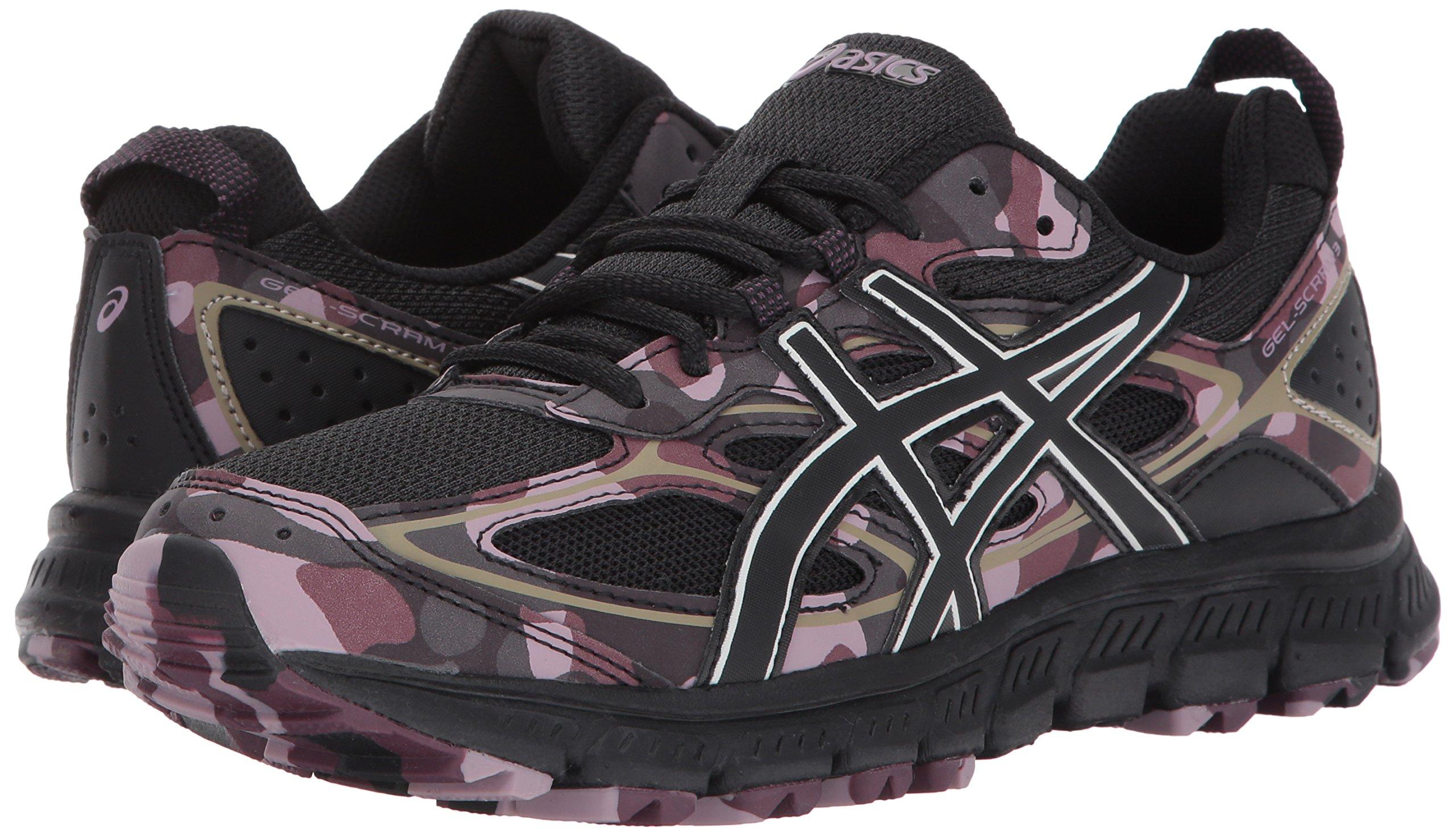 new styles 4d536 cb9a3 ASICS Womens Gel-Scram 3 Running Shoe, Phantom/Eggplant, 9.5 ...