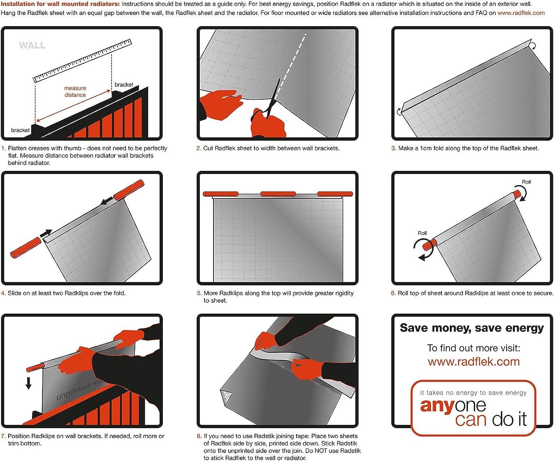 Panneaux d/'isolation r/éfl/échissants pour radiateurs paquet de 15 panneaux