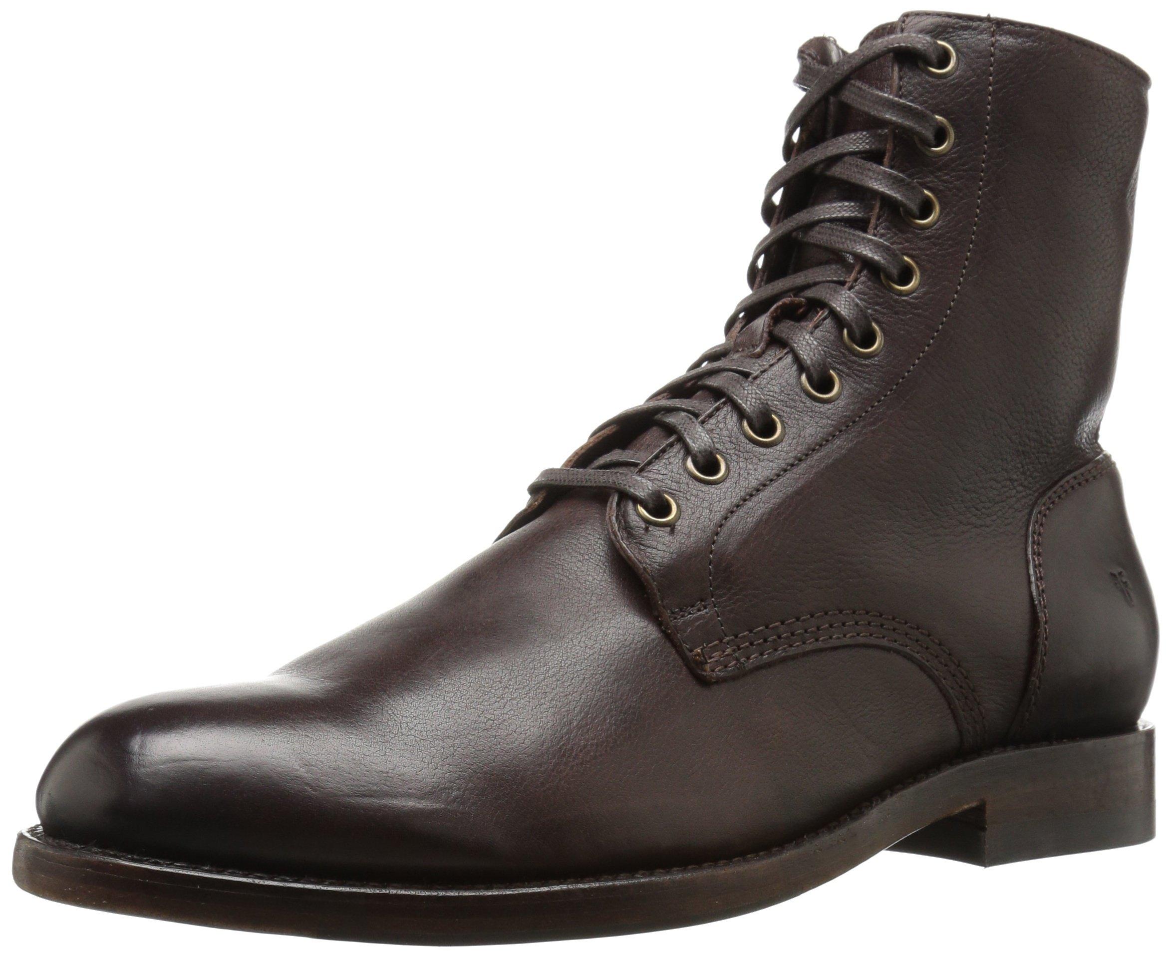 FRYE Men's Will Lace up Combat Boot, Dark Brown, 7 D US