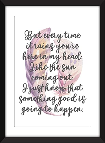 Kate Bush Cloudbusting Lyrics - Unframed Print: Amazon ca