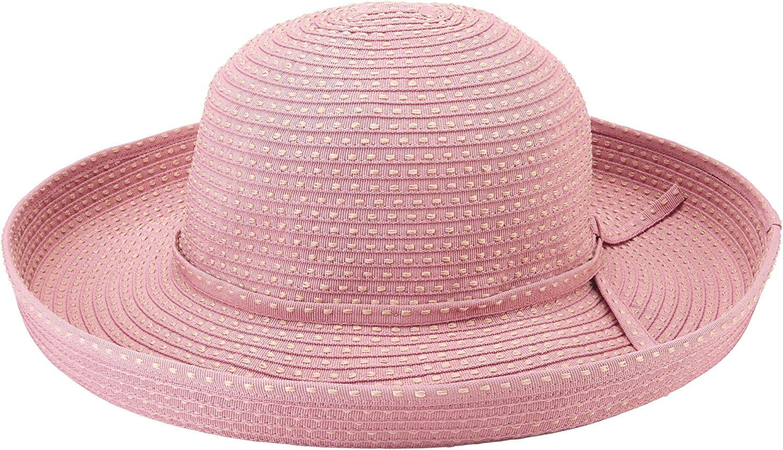 San Diego Hat Company Women's Ribbon Kettle Brim Hat - One Size