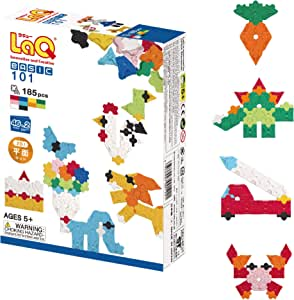 LaQ Basic 101 - 46 Models, 185 Pieces| Learning Construction Building Set | Made in Japan | Educational FIne Motor Skills Toy for Ages 4, 5, 6, 7 Year Old Boy & Girl | Best Kids Fun Building Blocks