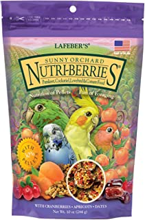 product image for LAFEBER'S Sunny Orchard Nutri-Berries Pet Bird Food, Made with Non-GMO and Human-Grade Ingredients
