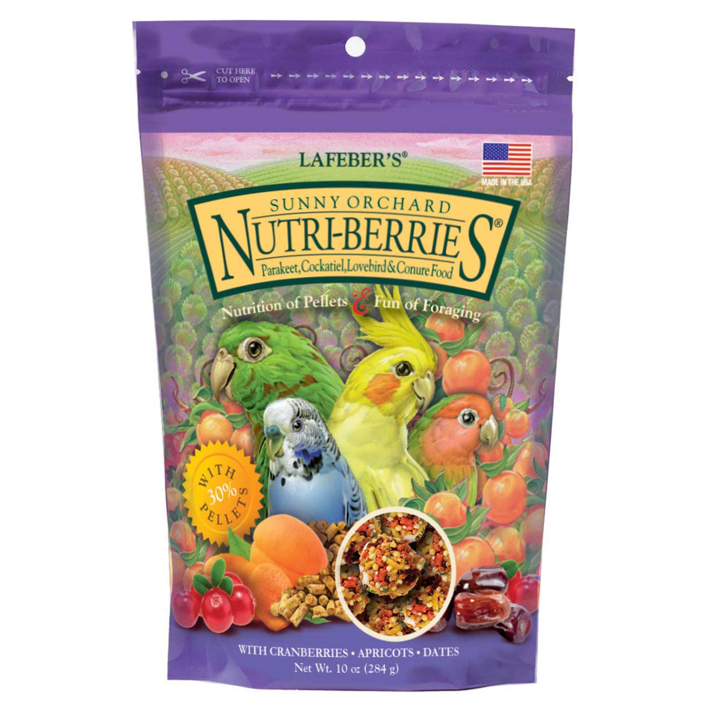 LAFEBER'S Sunny Orchard Nutri-Berries Pet Bird Food, Made with Non-GMO and Human-Grade Ingredients