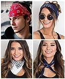 LOLIAS 6 Pack Bandanas for Men Women Red Navy White Cotton Mask Bandana Headband 2121 Inch