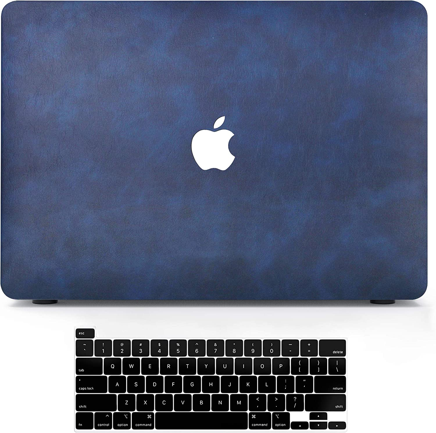 MacBook Pro 13 Inch Case 2020 2019 2018 2017 2016 Release A2251 A2289 A2159 A1708 A1989 A1706 PU Leather Coated Plastic Hard Shell Case with Keyboard Cover, Laptop Case for Apple MacBook Pro 13.3 inch