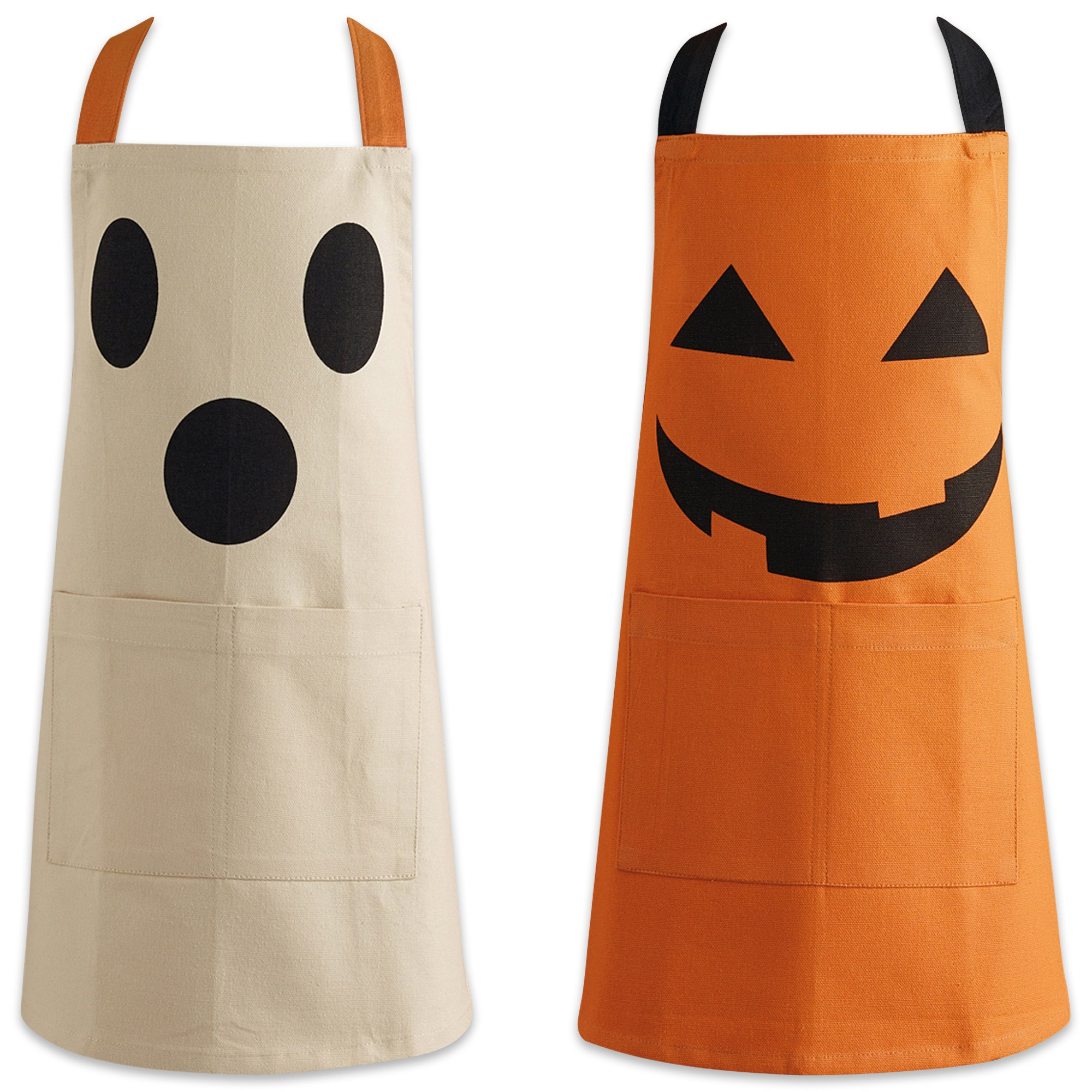 DII CAMZ10225 Halloween Children Apron (Set of 2), 17 x 21, Black