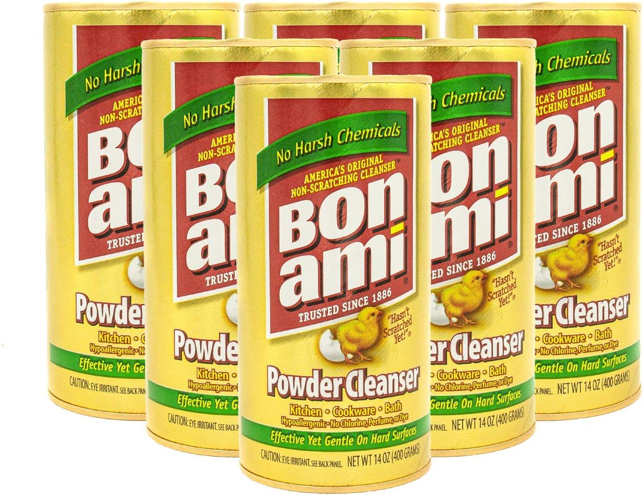 Bon Ami Polish and Cleanser Powder14 Ounce (Set of 6)