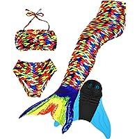 Superstar88 Meisjes Cosplay kostuum badkleding zeemeermin shell badpak 3 stuks bikini sets leuk cadeau-idee!
