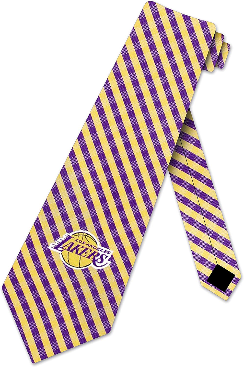 Lakers Gingham Ties Mens Los Angeles NBA Necktie Sports Tie