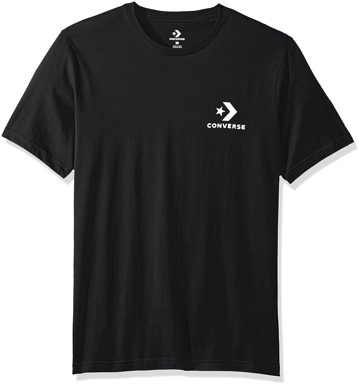 6723a0e384f3 Amazon.com  Converse Men s Star Chevron Small Logo Short Sleeve T-Shirt   Clothing