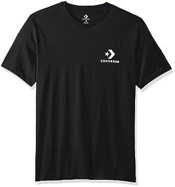 f4268158db71 Converse Star Chevron Left Chest Tee T-Shirt Black  Amazon.co.uk ...