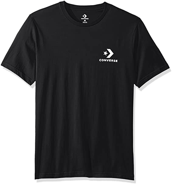 f4268158db71 Converse Star Chevron Left Chest Tee T-Shirt Black  Amazon.co.uk ...