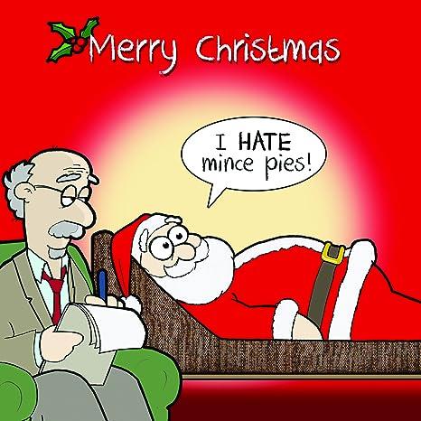 Biglietti Di Natale Divertenti.Twizler Buon Natale Con Babbo Natale Divano E Terapia Happy