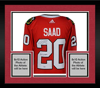 5e39fb97d32 Framed Brandon Saad Chicago Blackhawks Autographed Red Adidas Authentic  Jersey with The Saadfather Inscription - Fanatics