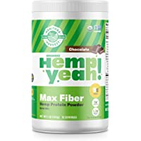 Manitoba Harvest Hemp Yeah! Organic Max Fiber Protein Powder, Chocolate, 16oz; with 9g of Fiber, 8g Protein and 1.3g…