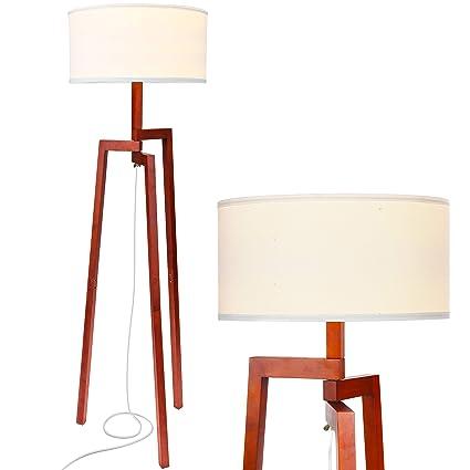 986f1e2b69edc Brightech New Mia LED Tripod Floor Lamp– Modern Design Wood Mid Century  Modern Light for
