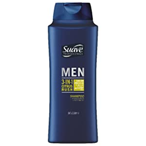 Suave Men 3-in-1 Shampoo Conditioner Body Wash, Citrus Rush, 28 oz