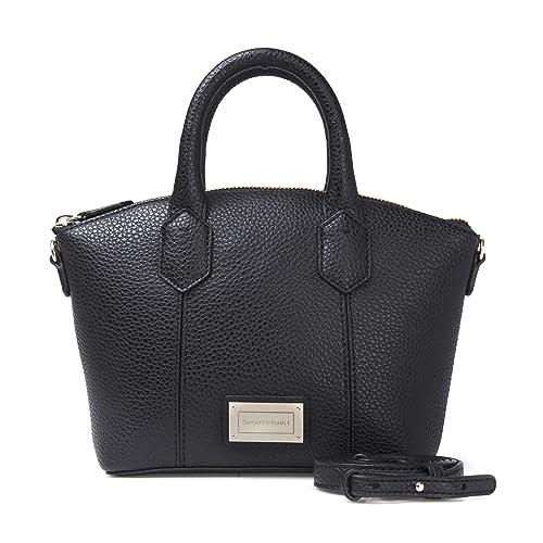 Emporio Armani Women s Top-Handle Bag Black Black  Amazon.co.uk  Shoes    Bags b78e3a9931f85