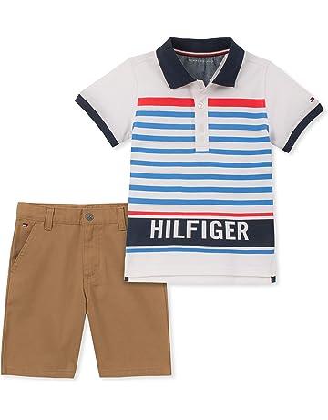 96e06a28 Tommy Hilfiger Baby Boys 2 Pieces Polo Shorts Set