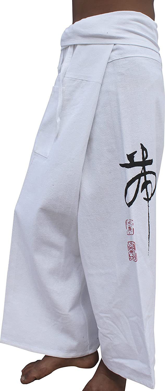 Raan Pah Muang Cotton Fisherman Pants Quality Casual Chinese Tiger Print